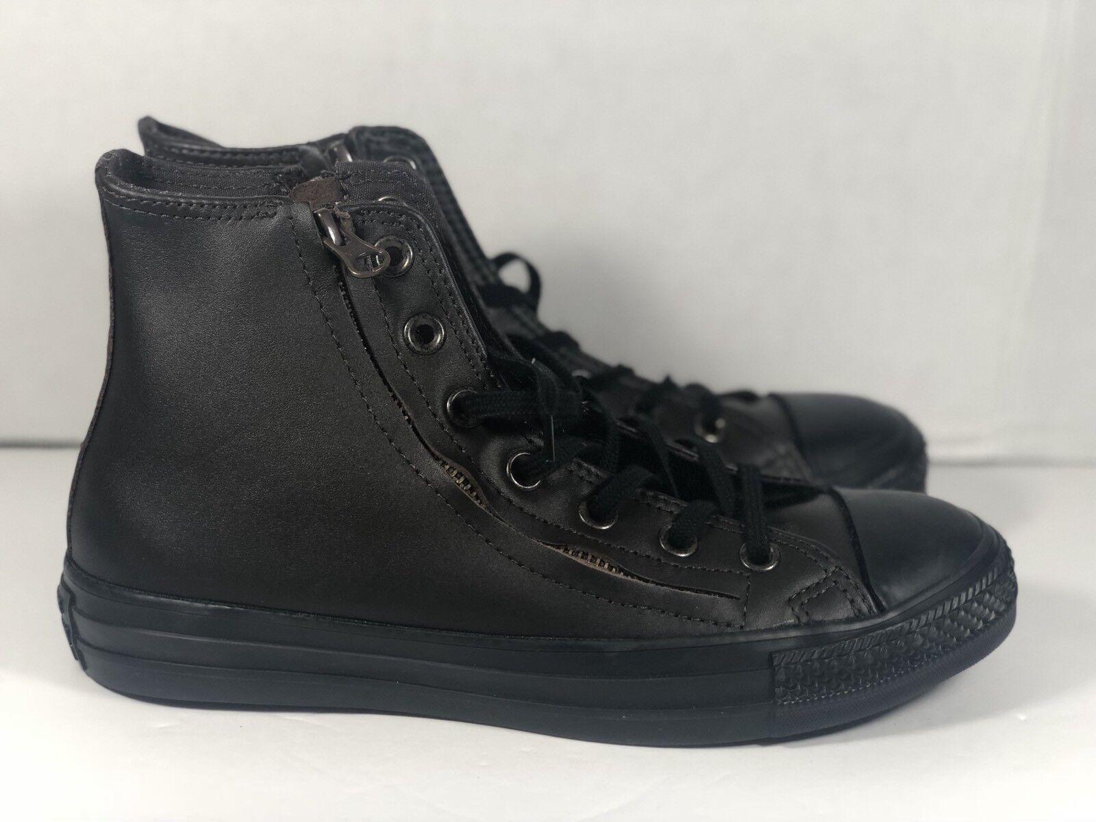 Damens's Converse Chuck Taylor Double Zip Hi High Top Schuhes Größe 8 Braun
