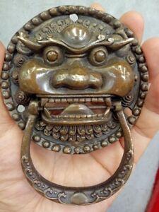 Chinese statue Old Bronze Foo Dog Foo Lion Door Knocker