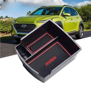 LFOTPP-2018-Hyundai-Kona-Car-Accessory-Center-Console-Storage-Organizer-RED