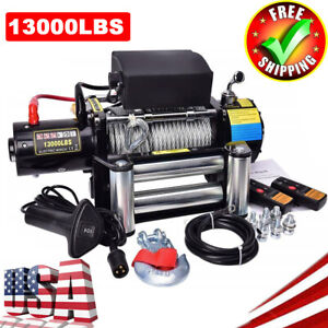 13000LBS-12V-Electric-Recovery-Winch-Truck-Wire-Rope-SUV-4WD-Remote-Control-USA