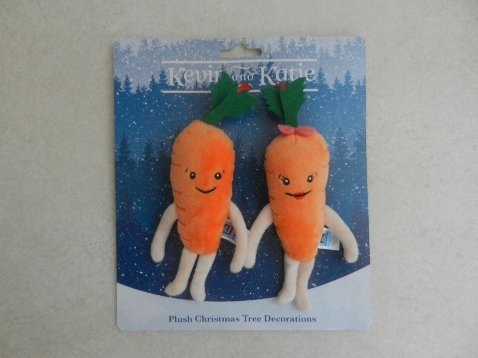 BNWT Aldi Kevin & Katie The Carred Christmas Tree Decorations Brand New
