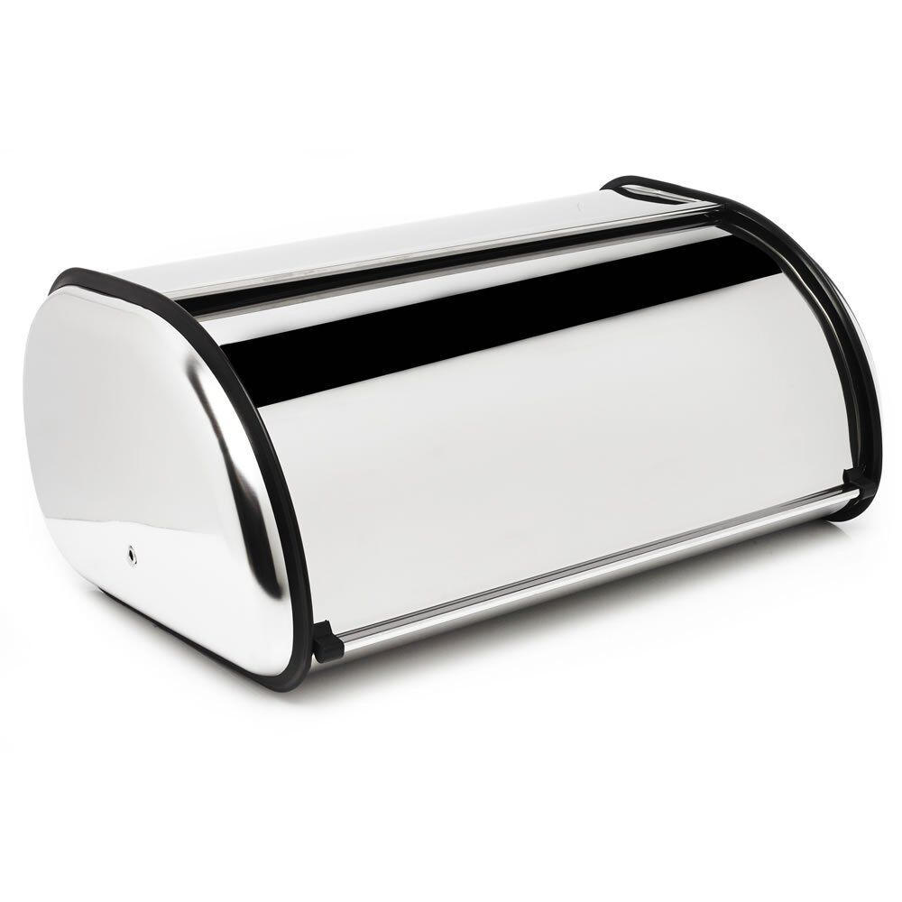 Rectangular Bread Bin Steel Roll Top Kitchen Storage Loaf: Bread Bin Kitchen Storage Loaf Roll Box Vintage Tea Coffee