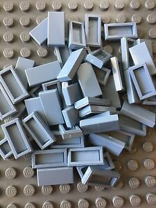 Lego 4 Blue 1x2 Finishing Tile NEW
