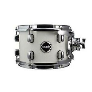 "Crush Drums Chameleon Complete 8x6"" Tom Drum with Arm  Clamp, White #CCB08X6901"