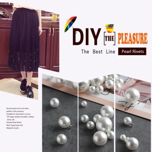 100pcs Shoes Crafts DIY Garment Scrapbooking Pearl Rivets Cloth Button
