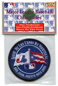 2003-Montreal-Expos-en-Puerto-Rico-Oficial-MLB-Beisbol-Defunct-Equipo-Parche