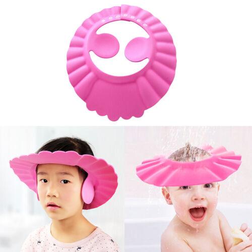 Einstellbare Baby Dusche Kappe Ohr Abdeckung Bad Hut Waschen Haar