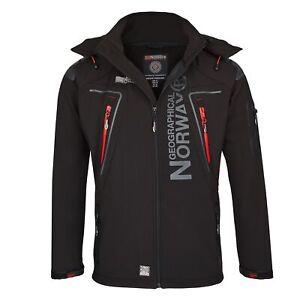 Geographical Norway Herren B133 Softshell Regenjacke Jacke B-Ware Black L