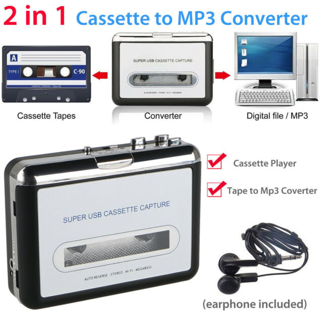 Compatible with Laptops and Personal Computers OfficeLead Classical Portable Tape Player Vintage Auto Reverse Portable Audio Tape Walkman with Earphones Cassette Player