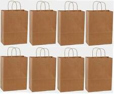 25 18x7x18 Kraft Brown Paper Handle Shopping Gift Merchandise Carry Retail Bags
