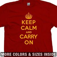 Keep Calm And Carry On T-shirt - Kcaco Kcco Uk Poster Meme - All Sizes & Colors