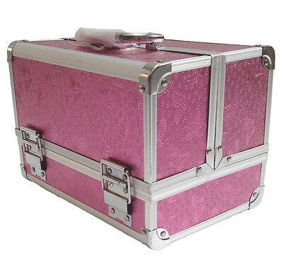 Large Aluminium Rose Beauty Box Cosmetic Make Up Vanity Jewellery Saloon Case