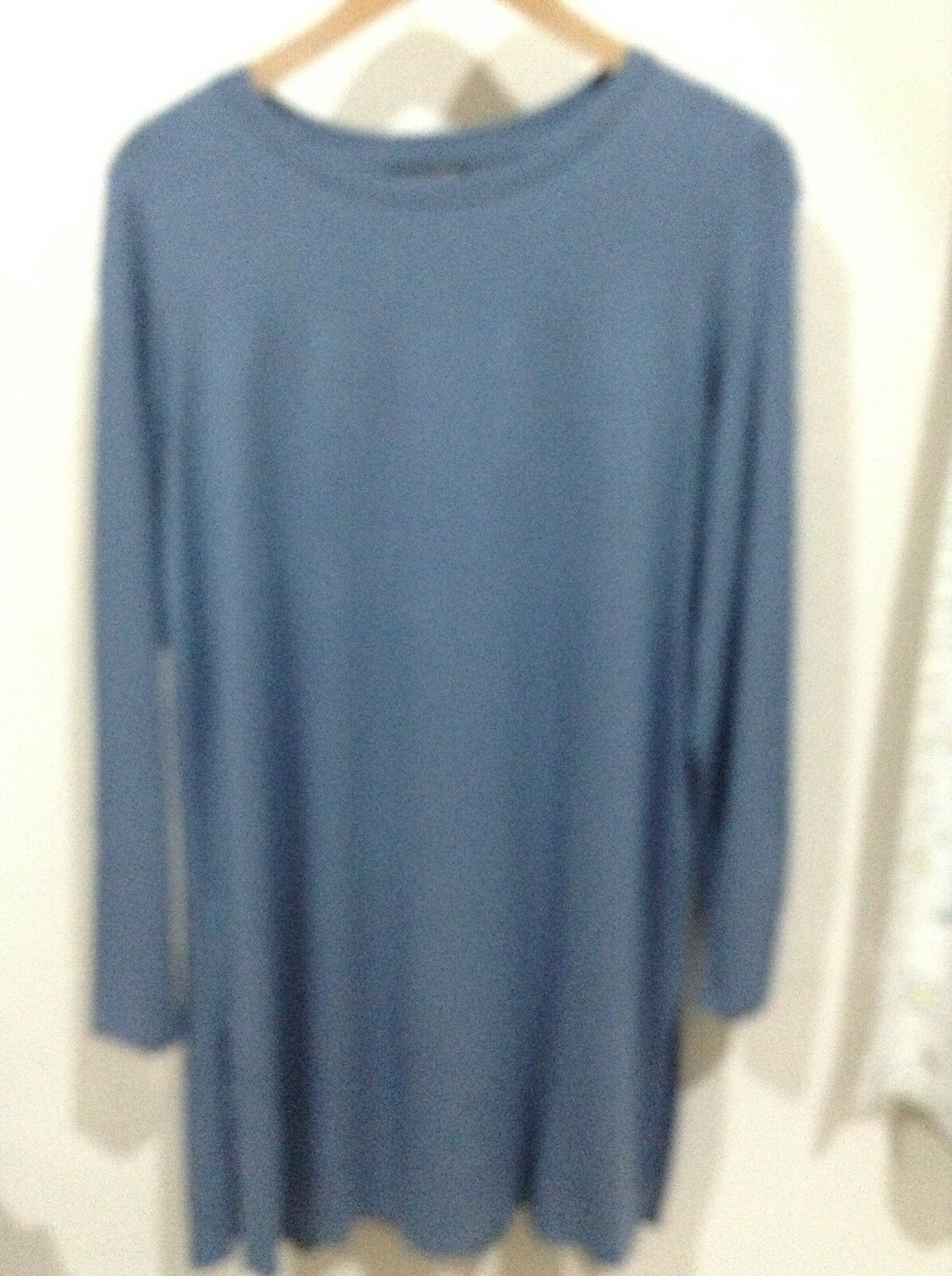 Eileen Fisher Girocollo Girocollo Girocollo Tunica in stagno blu. Taglia media. RRP d573a2