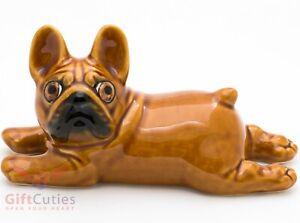 Porcelain Figurine of the French Bulldog dog