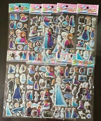 1 x DISNEY FROZEN CHILDRENS STICKERS SHEETS- PARTY FAVOURS FILLERS SCRAPBOOKING