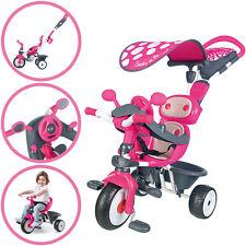 Smoby Dreirad Baby Driver Comfort mit Dach (Pink-Grau)