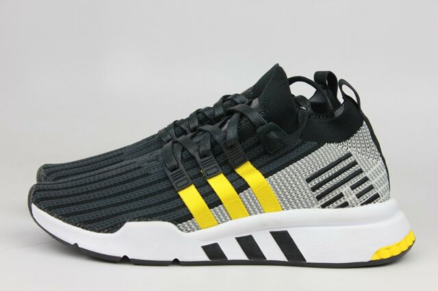 newest f8c36 b8e24 ADIDAS ORIGINALS EQT SUPPORT MID ADV BLACK YELLOW WHITE MEN CQ2999 NEW NIB  NWT