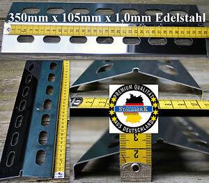4-Stueck350mm-Edelstahl-Flammenverteiler-Grillblech-Gasgrill-Flammenabdeckung-BBQ