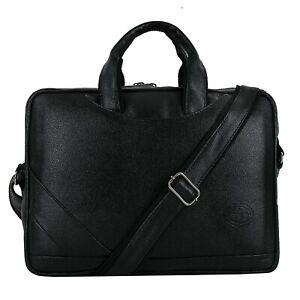 S B Leather 16 Inch Shoulder Sling Laptop Messenger Bag