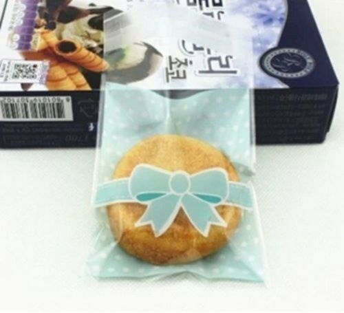50/100PCS Colorful Self adhesive Cellophane Bag Candy Cookie Bags Christmas