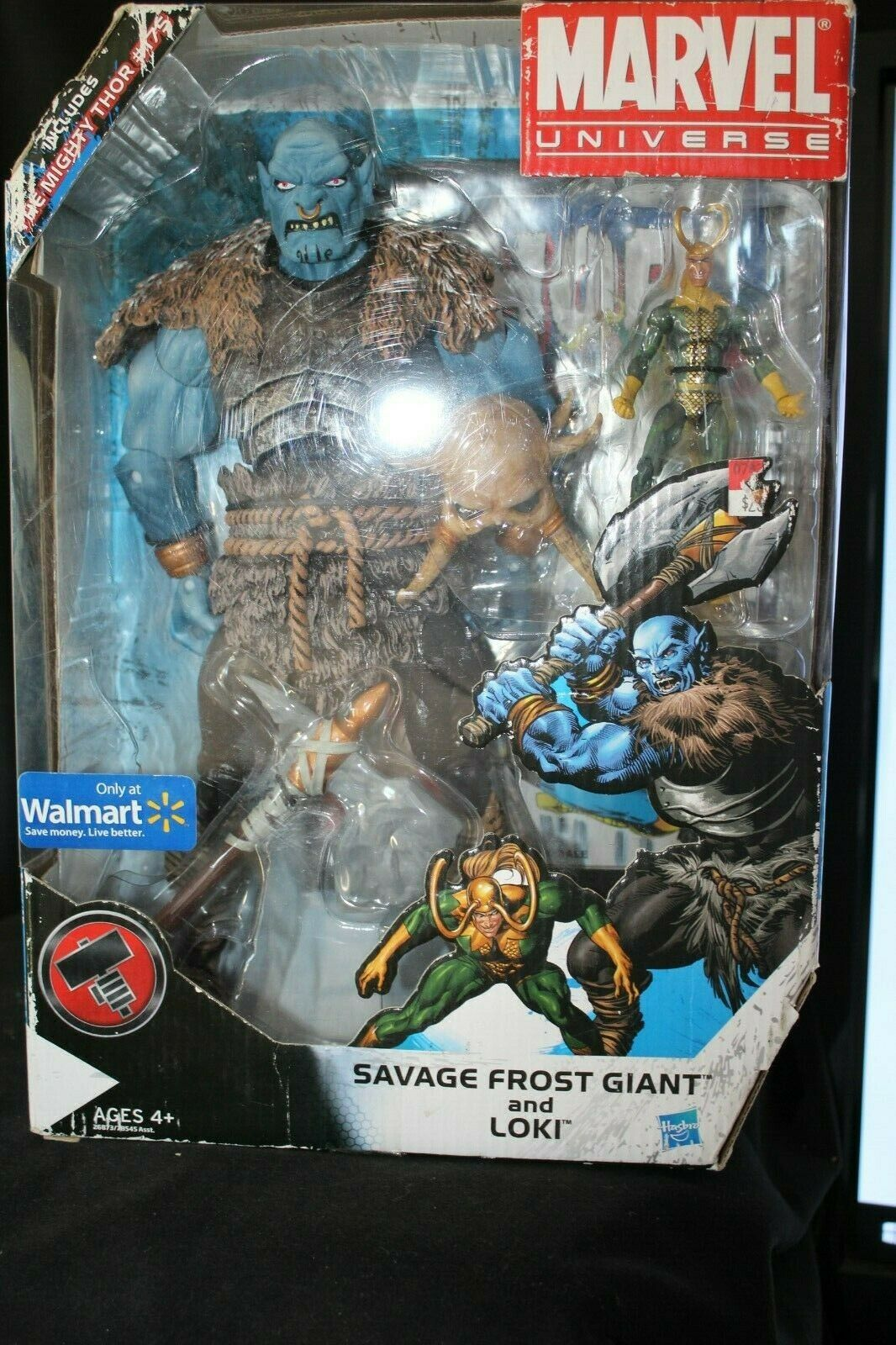 Marvel Universe Savage Frost Giant& Loki Exclusive Figure Set  175NEW Box Wear