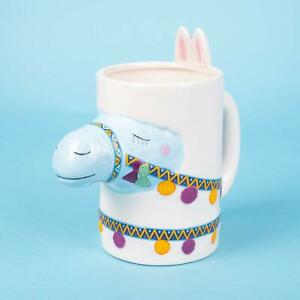 Details about Llama Animal Mug Ceramic Tea Coffee Cup Cute Gift Novelty Girl Kids