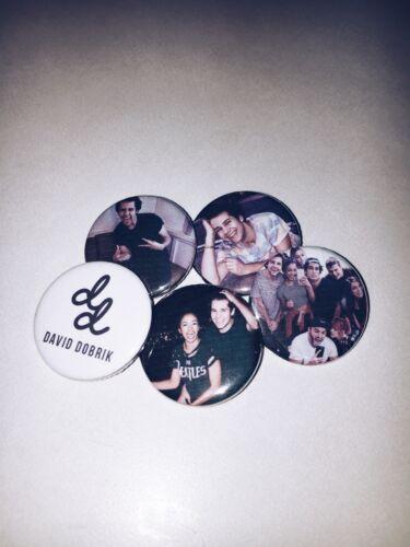 Set of 5 David Dobrik Buttons