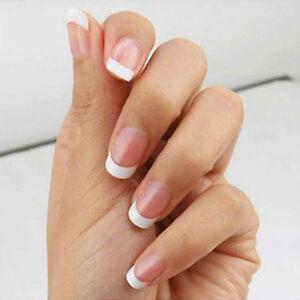 IM- 500Pcs Short French Nail Art Tips UV Gel False Tips DIY Manicure ...