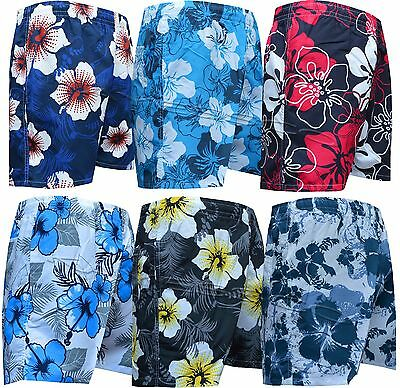 XXXL Mens Boys Summer Floral Print Beach Shorts Surf Board Swim Shorts M