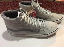 1c5ee90cd522a9 VANS Sk8 Hi Slim Suede Tropical Floral Leaves Grey White Shoe Women ...