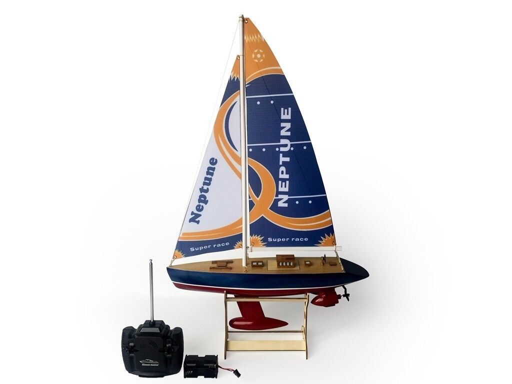 """25"""" RC Remote Control 4 Channels Sailboat 120SH Motor - Neptune"""