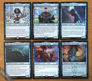 6x-Dominaria-Legendary-Blue-Creatures-Lot-of-6-NM-Magic-MTG-Commander-EDH