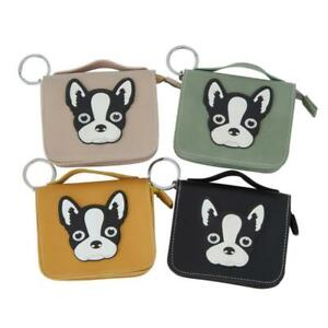 Faux-Leather-Effect-Zipped-Children-039-s-Purse-Assorted-4-Colours-Animal-Design