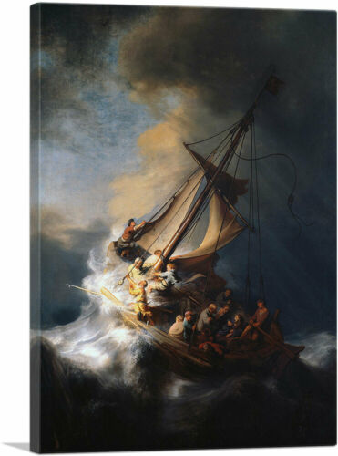 The Storm on the Sea of Galilee 1633 Canvas Art Print by Rembrandt van Rijn