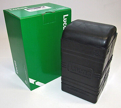 LUCAS small square black flexible rubber BATTERY BOX + lid PUZ5D BSA Bantam new