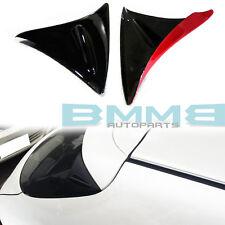 Paint Black + Red MAZDA 3 BM 3rd Hatchback Rear Side Fin Fins Spoiler 2016