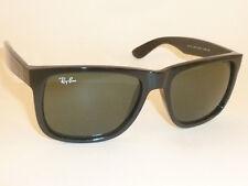 85f26f105d item 2 New RAY BAN Justin Sunglasses Shiny Black Frame RB 4165 601 71 Green  Lenses 54mm -New RAY BAN Justin Sunglasses Shiny Black Frame RB 4165 601 71  ...