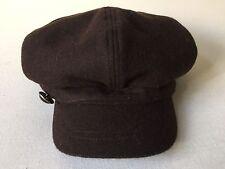 Wool Newsboy Cap Hat Nine West Hat Brown