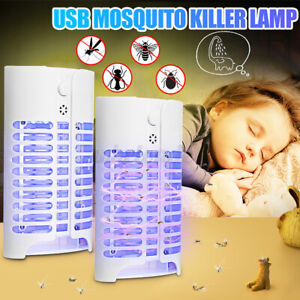 USB LED Electric Mosquito Insects Killer Zapper Light Fly Bug Pest Control Lamp
