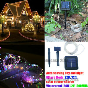 72ft 200 led solar rope light sensor strip string outdoor garden image is loading 72ft 200 led solar rope light sensor strip workwithnaturefo