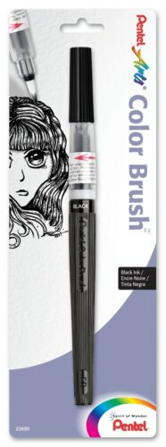 Choose Pack Size Black, Red, Gray, or Sepia Pentel Arts Color Brush