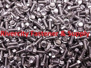 Details about (10) M6-1 0 x 16 / M6x16 Hex Flange Bolts DIN 6921 6mm x 16mm  Stainless Steel