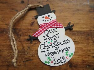 Personalised-Our-First-Christmas-Together-Bauble-Snowman-Tree-Decoration-Gift