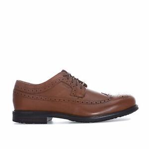 Hommes-Rockport-Essential-Details-2-Bout-D-039-Aile-Chaussures-en-Tan-dentelle