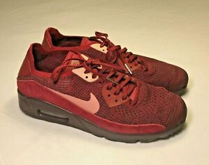 00786e7017817 Nike Air Max 90 Ultra Flyknit (875943-601) Team Red Athletic Shoes Men 9