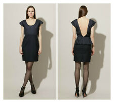 LORICK * DORSO * Pleated Open  Back Pencil  Dress GOSSIP GIRL Sz 10 6  NWT $ 390