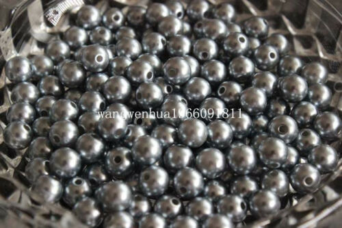 Free shipping 6//8//10mm Pearl Round Spacer Loose charm Beads 18 color