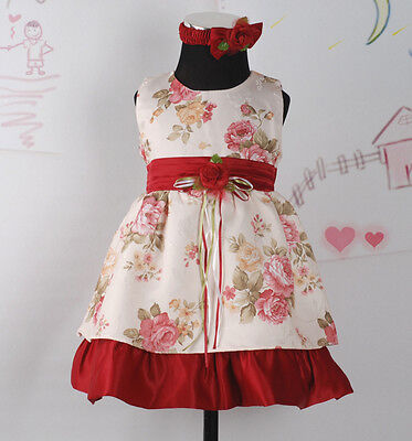 Pretty Originals RED DRESS with bloomers /& headband ONE LEFT ! G18