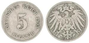 Empire 5 Pf. J.12 1893 G Almost VF 34613