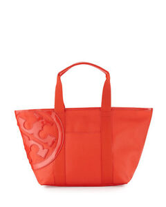 8650967eda5c Image is loading Tory-Burch-Bag-Small-Beach-Canvas-Tote-Poppy-